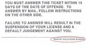 traffic violations bureau